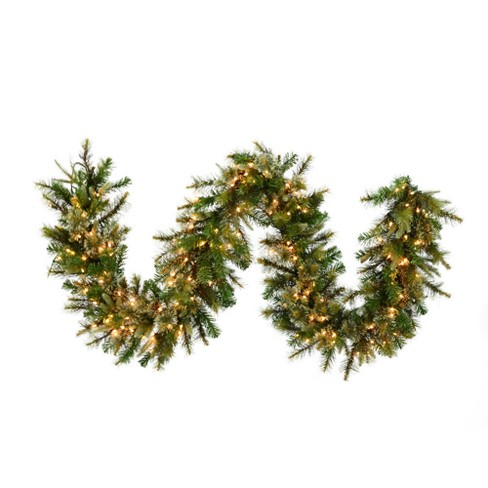 Vickerman 9' Cashmere Artificial Christmas Garland with 150 Clear Lights - image 1 of 1