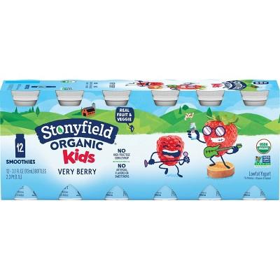 Stonyfield Organic Very Berry Kids' Yogurt Drinks - 3.1 fl oz/12ct