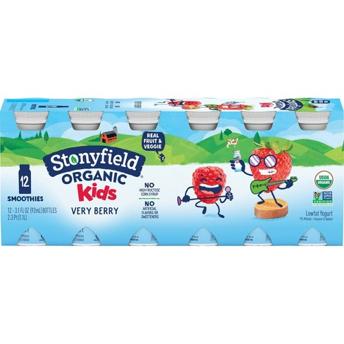 Stonyfield Organic Very Berry Kids' Yogurt Drinks - 3.1 fl oz/12ct - image 1 of 4