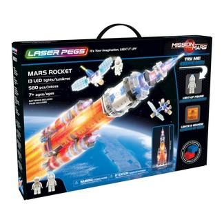 Laser Pegs Mars Rocket with Capsule & Built-in Sound Module