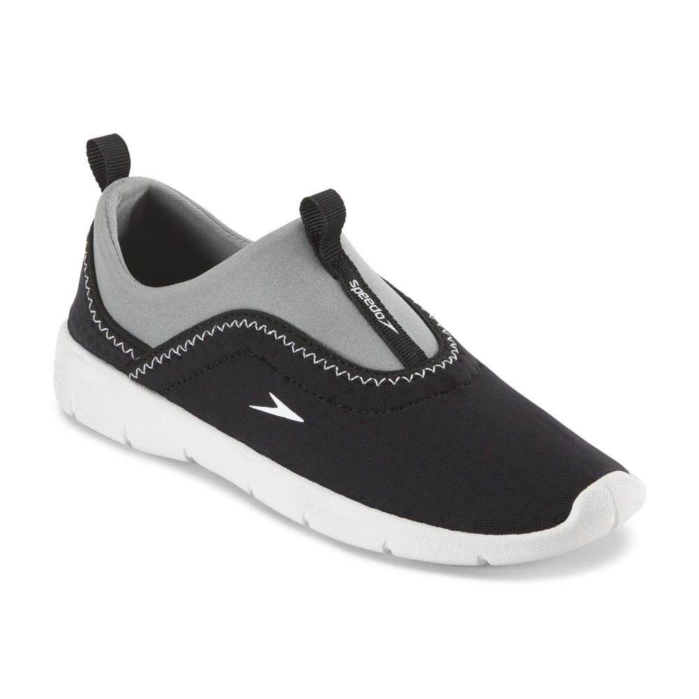 Speedo Jr Girls Aquaskimmer Water Shoes - Black/White (Large), Kids Unisex, White Black
