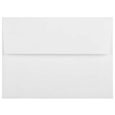JAM Paper A6 Strathmore Invitation Envelopes 4.75 x 6.5 Bright White Linen 3137