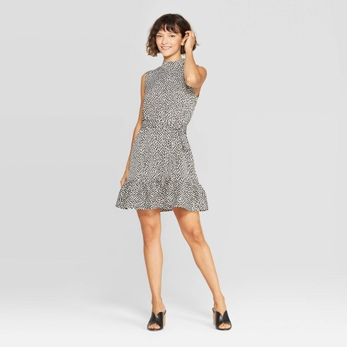 Women's Sleeveless High Neck A Line Mini Dress - Who What Wear™ - image 1 of 3