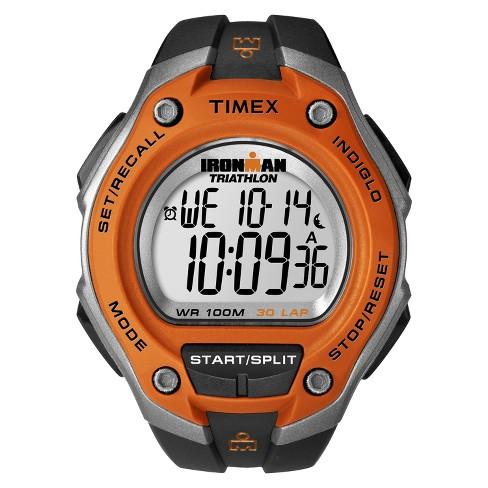 Men s Timex Ironman® Classic 30 Lap Digital Watch - Black Orange T5K529JT    Target a118d19d1438