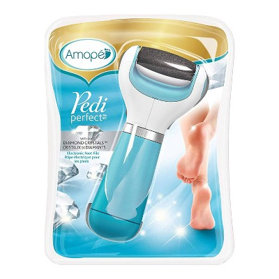 Amope Pedi Perfect Extra Coarse Pedicure Electronic Foot File/Foot Smoother with Diamond Crystals