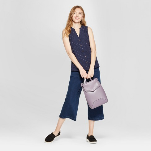 91fd256cbca30d Women's Polka Dot Sleeveless Button Front Blouse - A New Day™ Navy. Shop  all A New Day