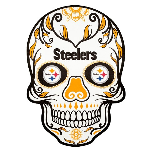 Nfl Pittsburgh Steelers Large Outdoor Skull Decal