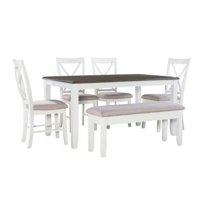 6pc Emma Dining Set Gray - Powell Company