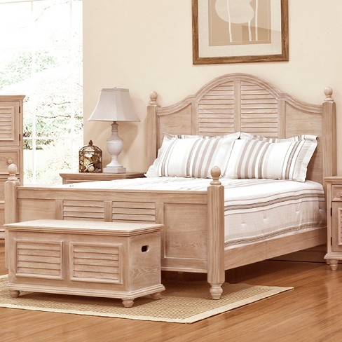 Cape May Collection Eastern King Bed Driftwood - John Boyd Designs - image 1 of 3