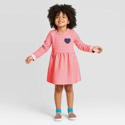 Toddler Girls' Stripped Dress - Cat & Jack™ Coral