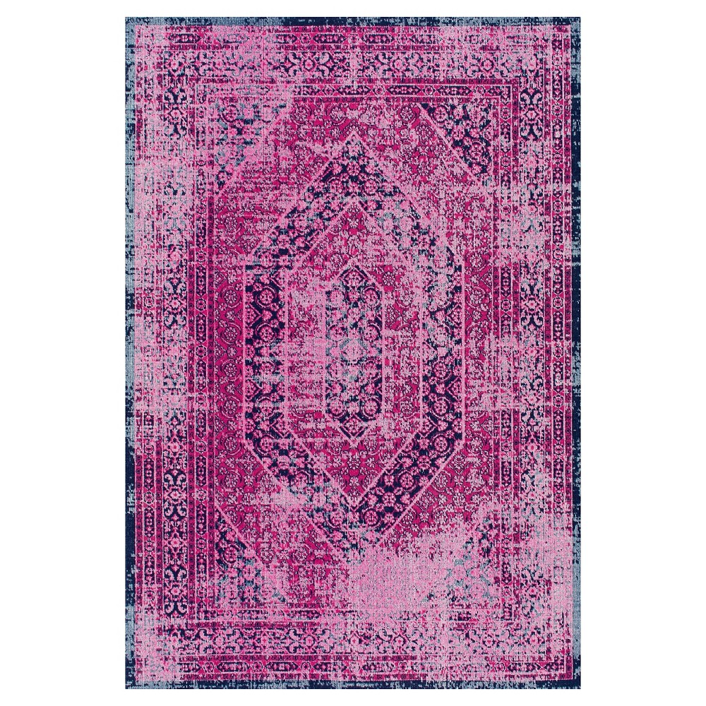 Pink Solid Loomed Area Rug - (5'x7'5) - nuLOOM