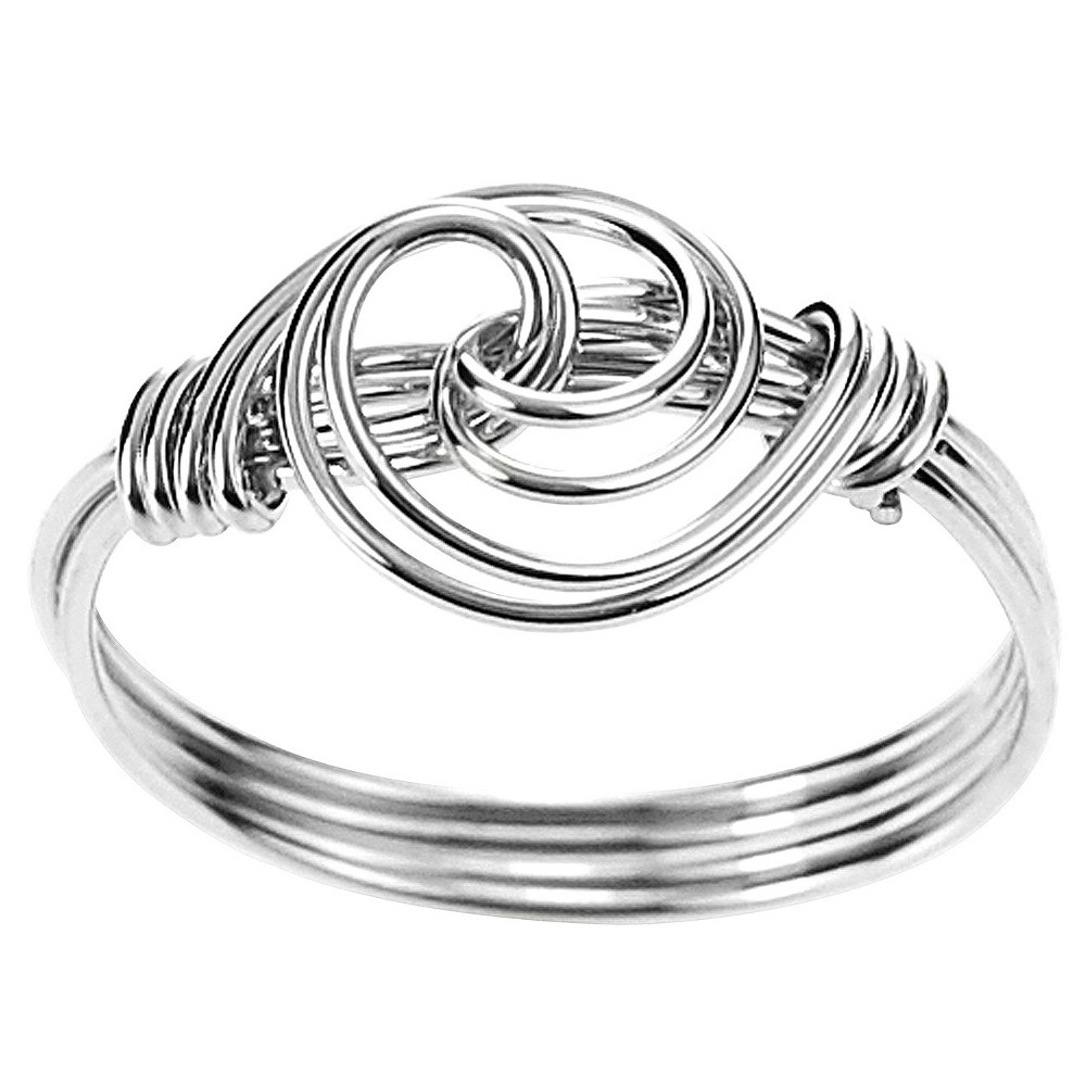 Tressa Collection Handcrafted Swirl Knot Ring in Sterling Silver - Silver (6), Girl's