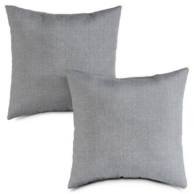 2pk Outdoor Throw Pillows Heather Gray - Kensington Garden