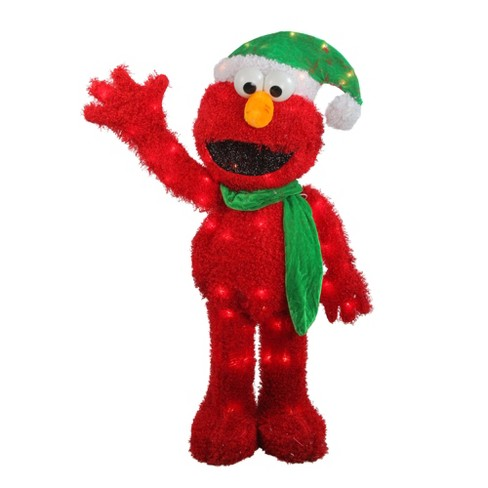 "Northlight 32"" Pre-Lit Soft Faux Fur Sesame Street Elmo Christmas Decoration - Clear Lights - image 1 of 3"