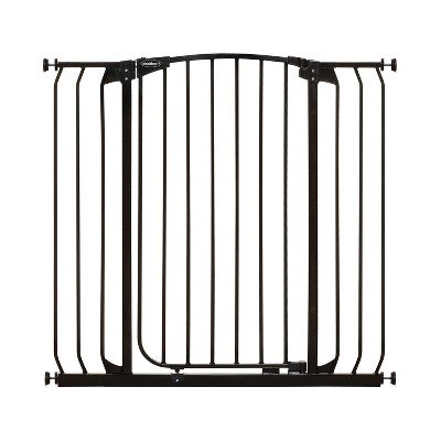 Bindaboo B1124 Zoe 38 to 42.5 Inch Extra Tall Extra Wide Auto-Close Wall to Wall Baby and Pet Safety Gate for Doors, Stairs, and Hallways, Black