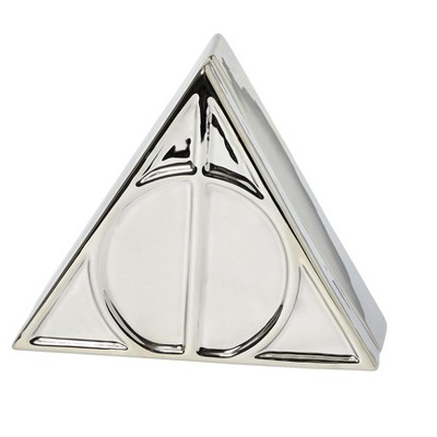 Seven20 Harry Potter Deathly Hallows Symbol Silver Storage Box | 7.5 x 6.5 Inches