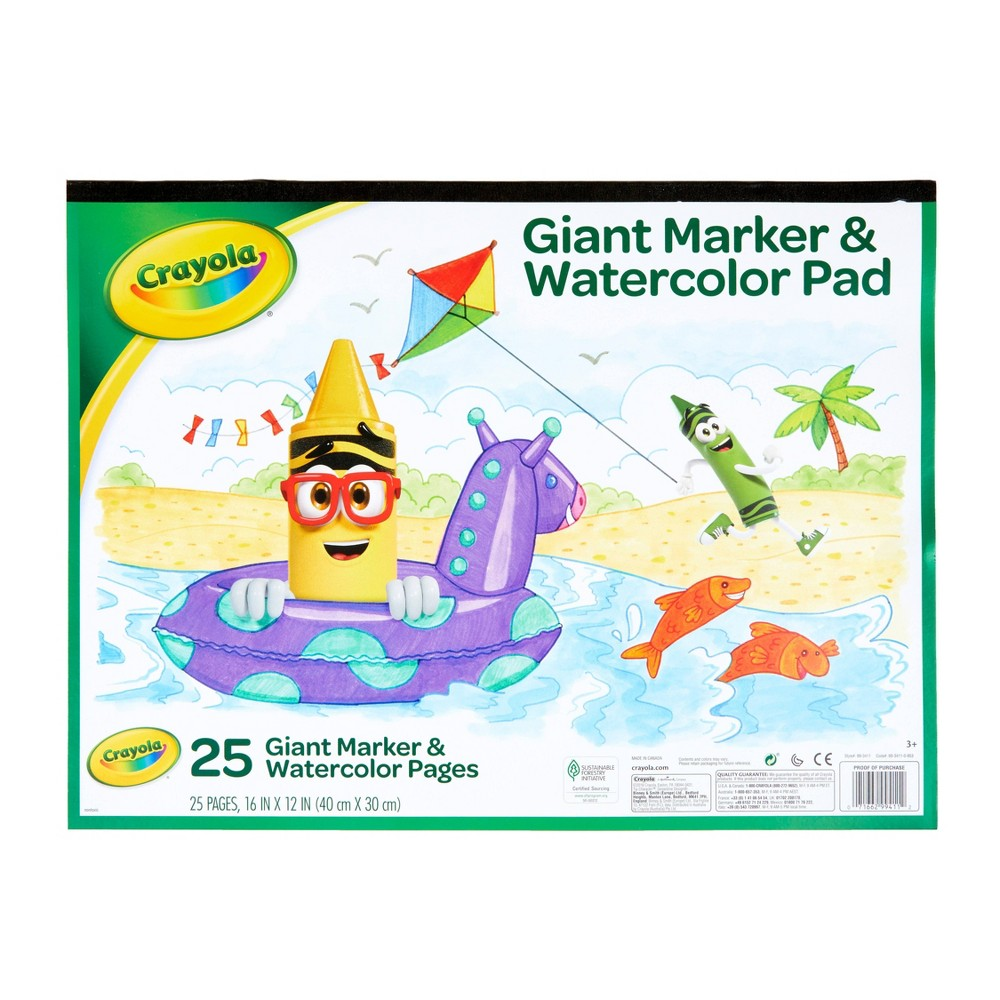 Crayola 25 Page Giant Marker 38 Watercolor Pad
