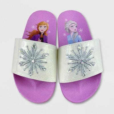 Girls' Disney Frozen 2 Slide Sandals - Purple - Disney Store
