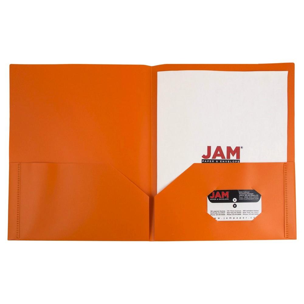 Jam Paper, Plastic Eco Folders, 6pk - Orange, Orange Smoothie