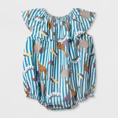Happy by Pink Chicken Toddler Girls' Animal Print Shift Dress - Blue 3-6M