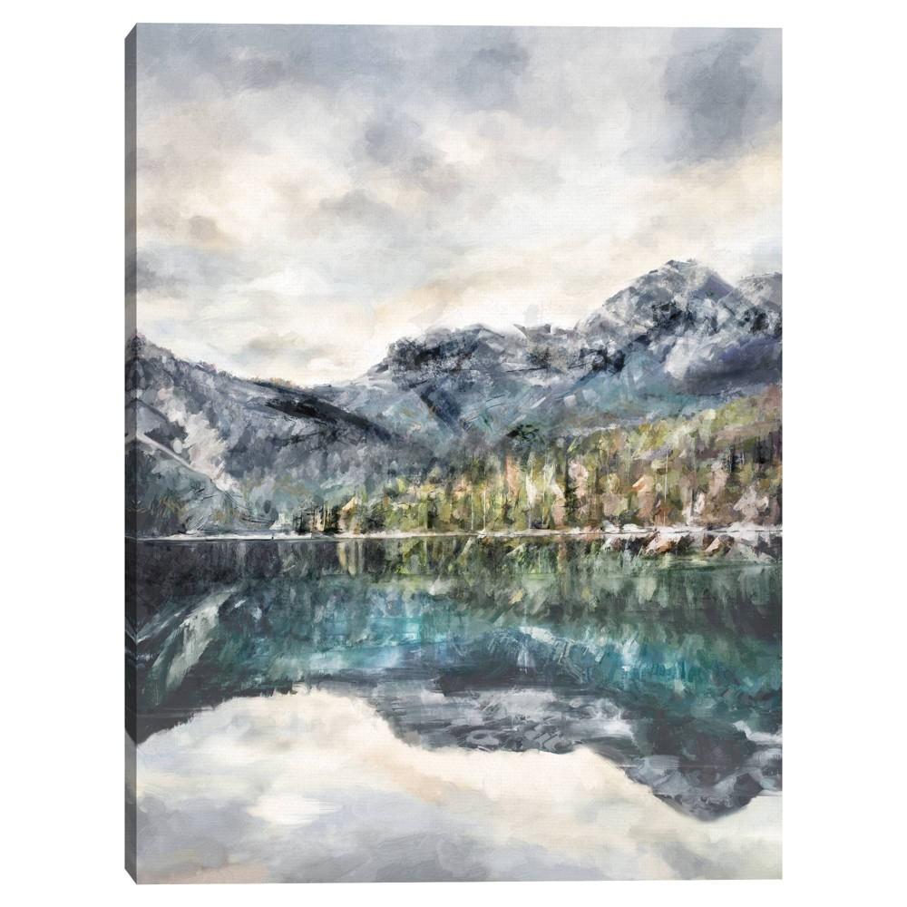 30 34 X 40 34 Lake Reflections By Studio Arts Canvas Art Print Masterpiece Art Gallery