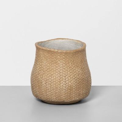 """6"""" Woven Concrete Planter Beige - Hearth & Hand™ with Magnolia"""