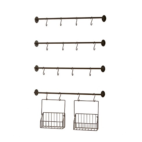 Lakeside Wall Rack for Coffee Mugs, Tea Cups with Industrial Pipe Style - 6 Pieces - image 1 of 4