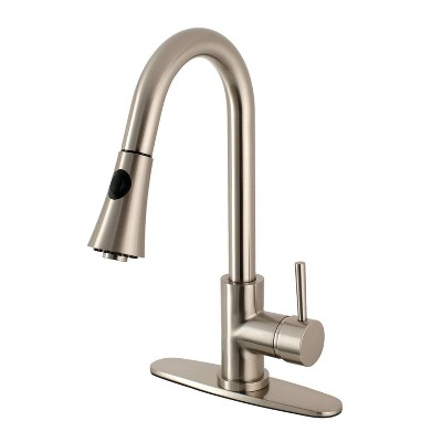 Gourmetier Single Handle Faucet with Pull Down Spout - Kingston Brass