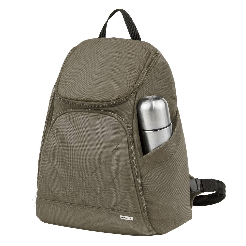 "Image of ""Travelon 16"""" Anti-Theft Classic Backpack - Nutmeg, Brown"""
