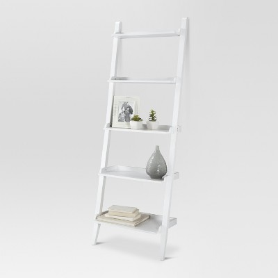 "72"" Carson Leaning Bookcase White - Threshold™"