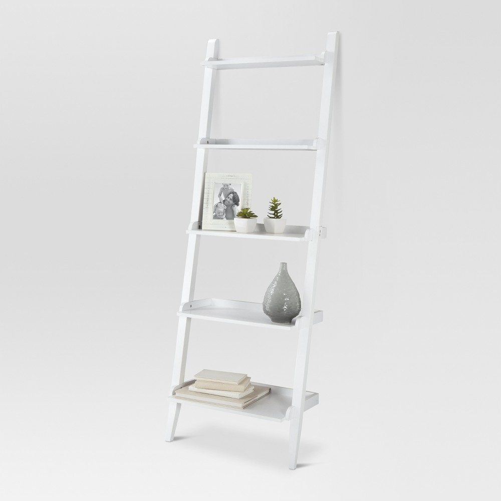 72 Carson Leaning Bookcase - White - Threshold