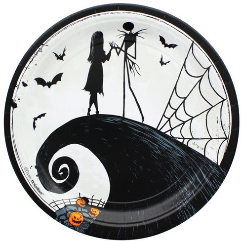 Christmas Paper Plates.Amscan Nightmare Before Christmas 9 Round Paper Plates 8 Pack