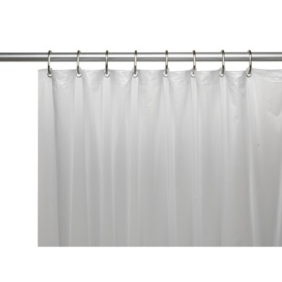 Carnation Home Shower Stall-Sized Shower Curtain Liner 54 x 78 Mildew Resistant 10 Gauge Vinyl Frosty Clear
