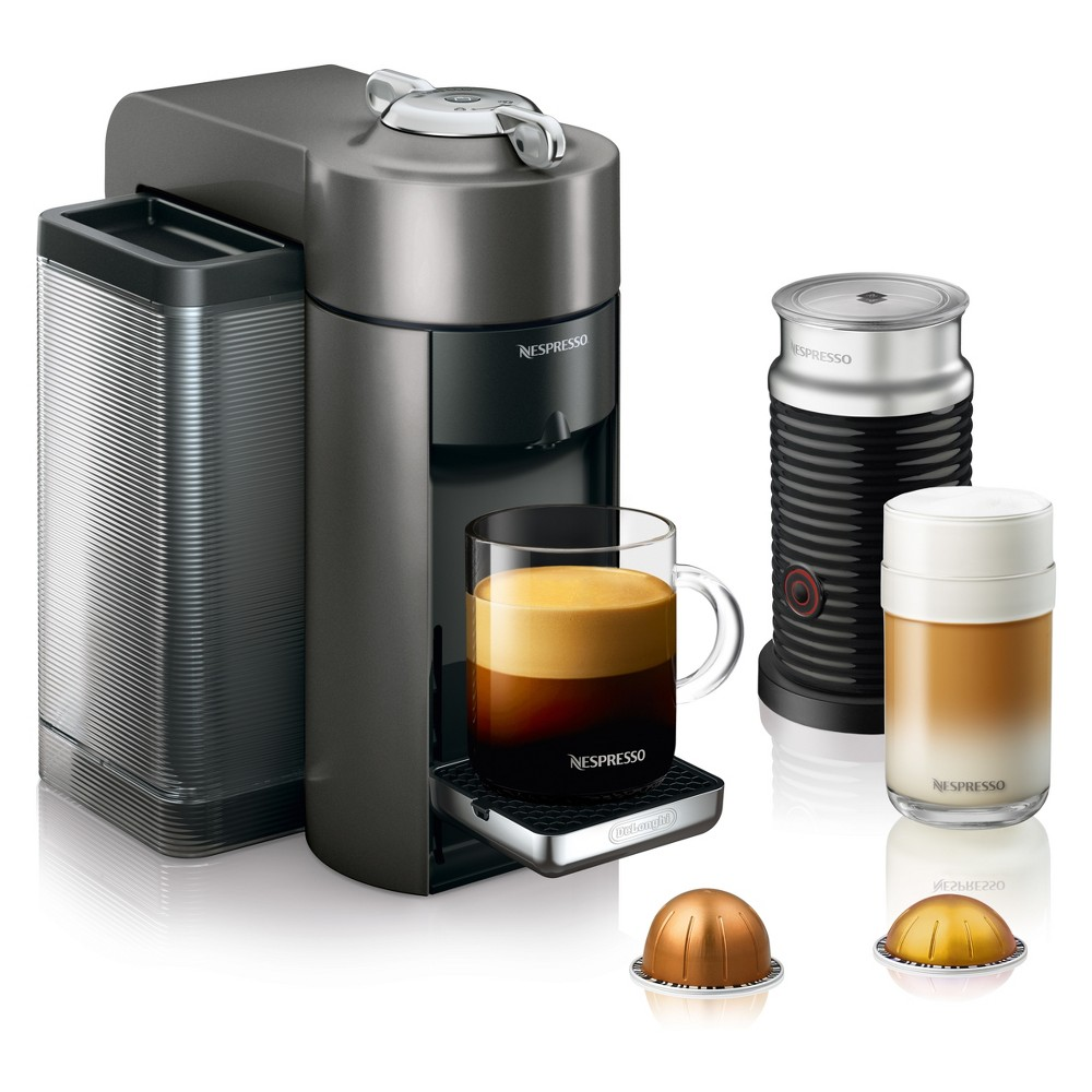 Nespresso Vertuo Coffee and Espresso Machine with Aeroccino Titan by De'Longhi 53804547