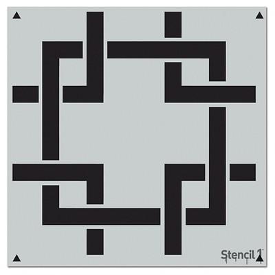 """Stencil1 Square Lattice Repeating - Wall Stencil 11"""" x 11"""""""