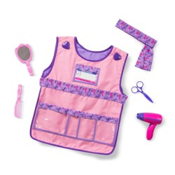 Melissa & Doug Hair Stylist Role Play Costume Dress-Up Set (7pc)