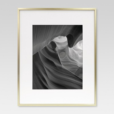 11 x14  Metal Single Image Matted Frame Brass - Project 62™