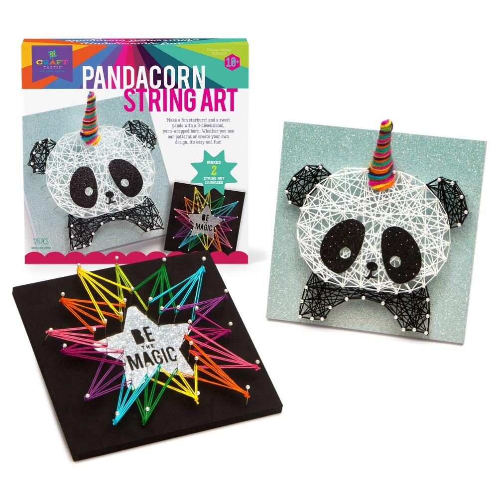 Image of Craft-tastic Pandacorn String Art DIY Art & Craft Kit