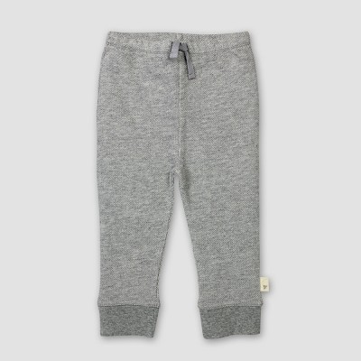 Burt's Bees Baby® Organic Cotton Loose Pique Pants - Heather Gray 3-6M