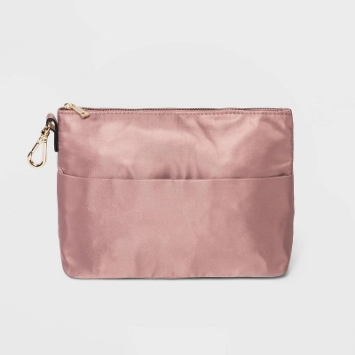 Women's Zip Closure Wallet with Organizer Pouch - A New Day™ Rose