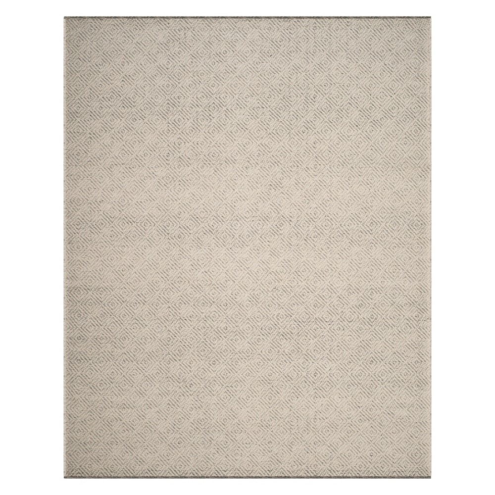Geometric Woven Area Rug Ivory/Light Gray