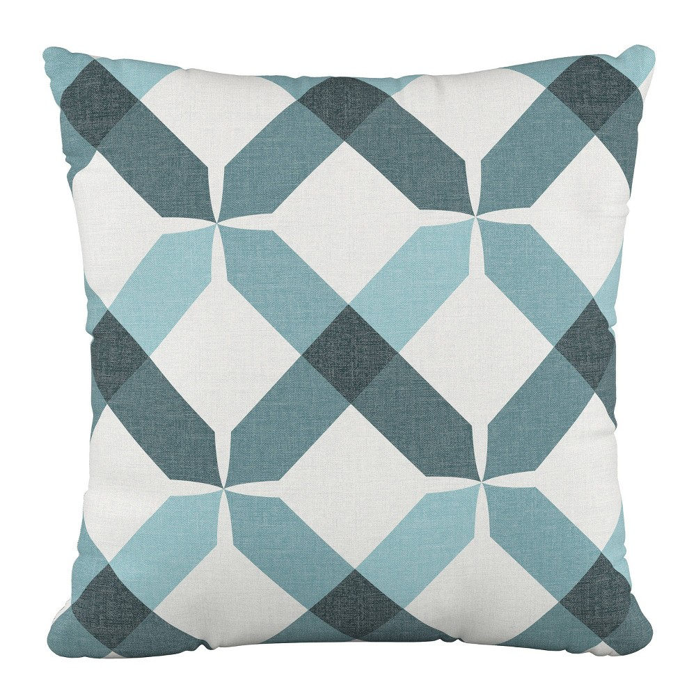 """Image of """"18""""""""x18"""""""" Polyester Pillow in Hanna Teal - Cloth & Company"""""""
