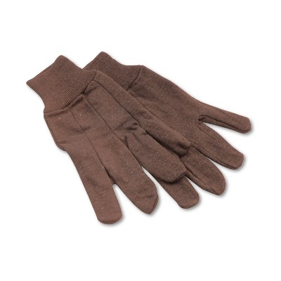 Boardwalk Jersey Knit Wrist Clute Gloves One Size Fits Most Brown 12 Pairs 9