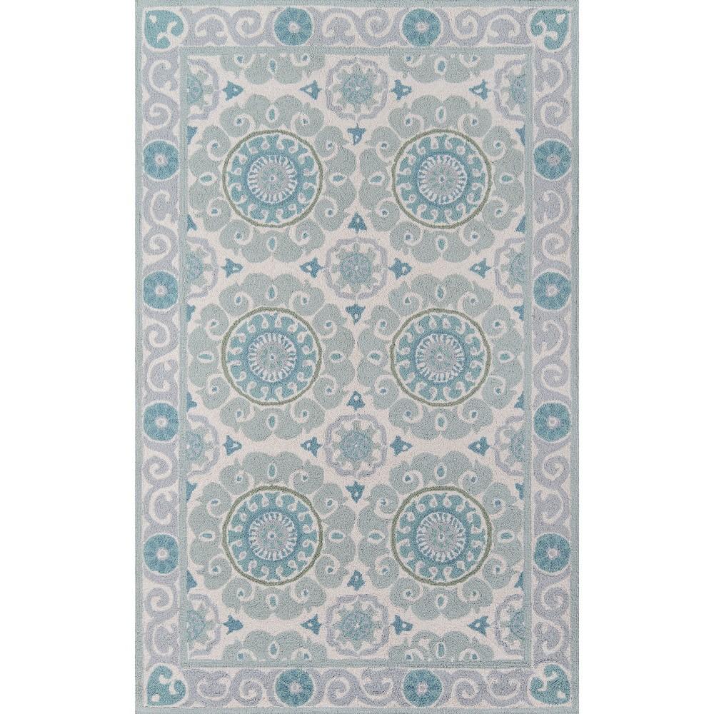 Beaufort Wool Accent Rug Aqua Blue 3 6