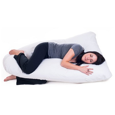 Bluestone Full Body Contour U Pillow - Great for Pregnancy - White