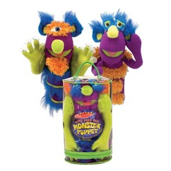 Melissa & Doug Make-Your-Own Fuzzy Monster Puppet Kit With Carrying Case (30pc)