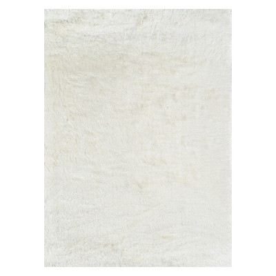 """7'6""""X9'6"""" Solid Loomed Area Rug White - Momeni"""