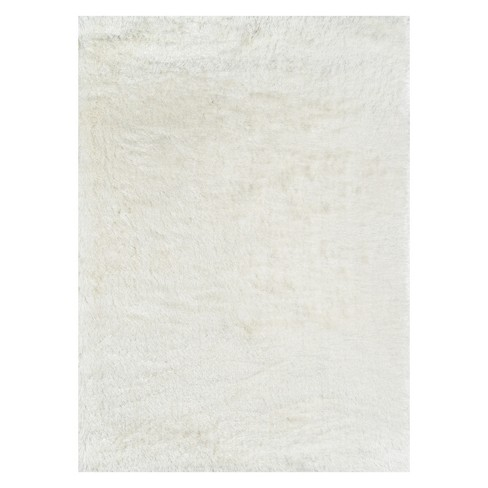 """7'6""""X9'6"""" Solid Loomed Area Rug White - Momeni - image 1 of 4"""