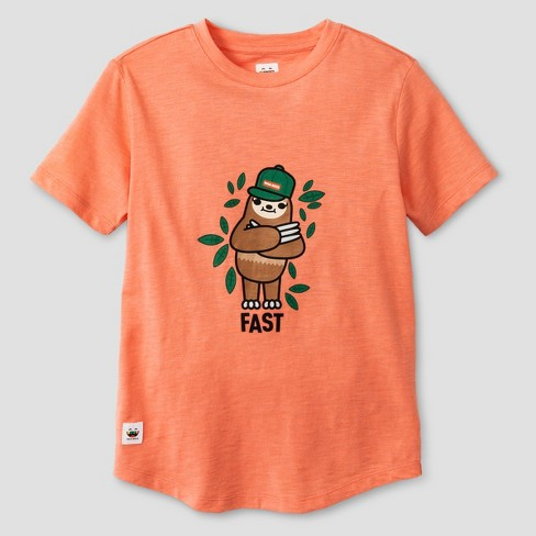a6452829e Boys' Toca Boca Sloth T-Shirt - Bright Orange : Target