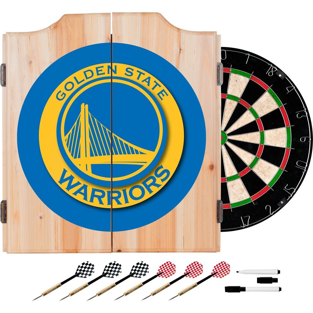 Golden State Warriors Wood Dart Cabinet Set